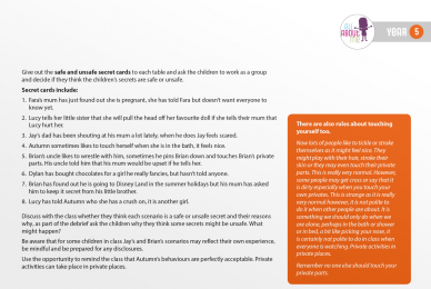 All About Me, YEAR FIVE Lesson Plan, page 32