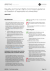 Equality and Human Rights Commission guidance on freedom of expression at universities