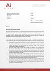 Letter to Warwickshire County Council from the Institute's solicitors