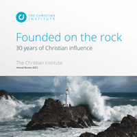 Founded on the rock: 30 years of Christian influence