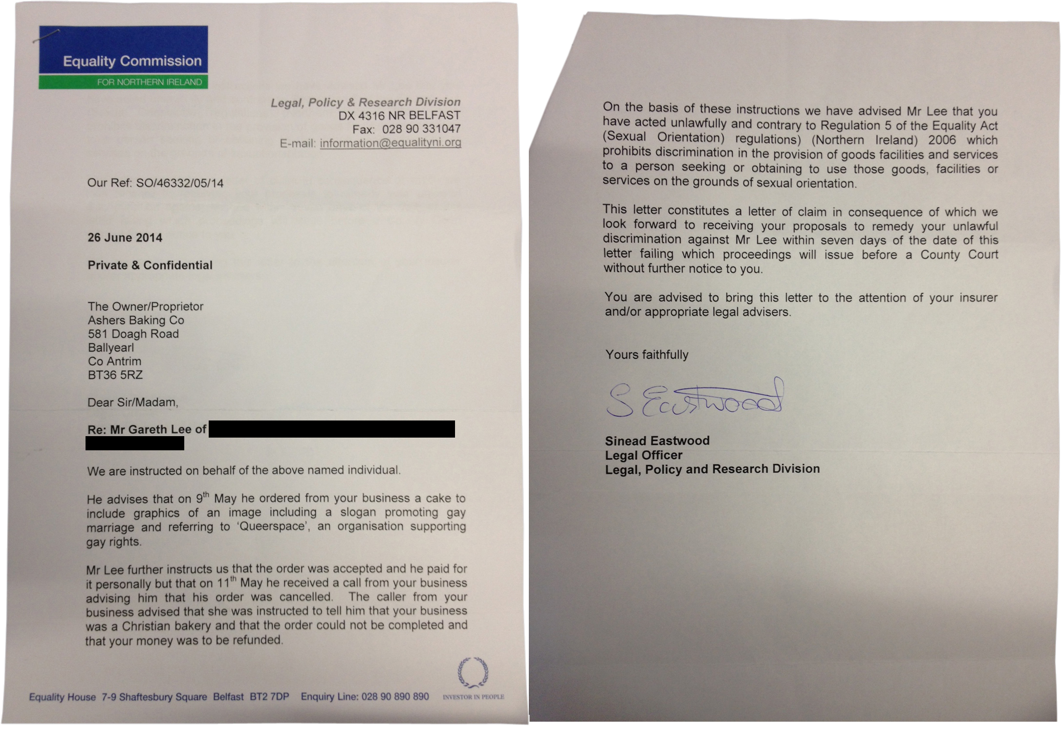 Letter Of Intent To Take Legal Action from www.christian.org.uk