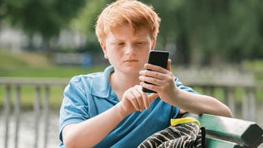Boy phone