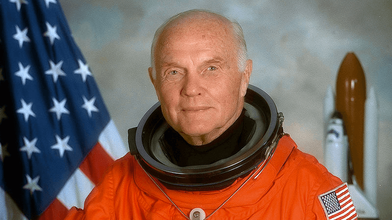 Nasa john glenn became the oldest person to travel into orbit when he