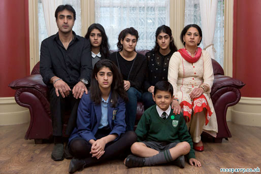 Nissar Hussain and family
