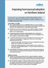 Imposing homosexual adoption on Northern Ireland