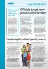 Keep families free briefing