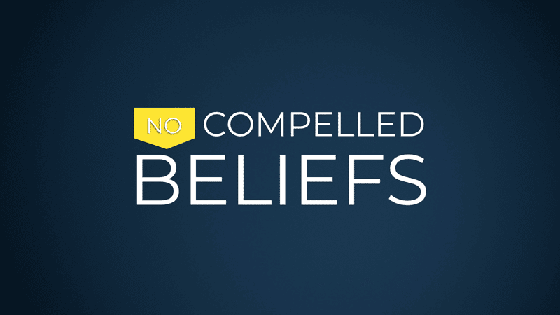 Equipped for Equality: No Compelled Beliefs